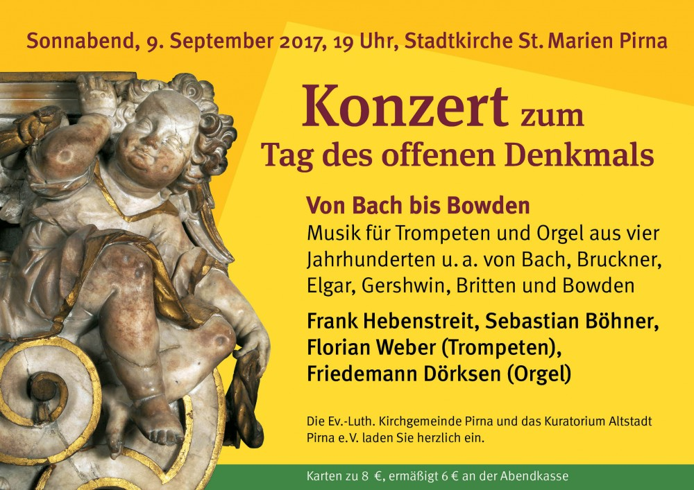 Konzert zum Tag des offenen Denkmals – Von Bach bis Bowden